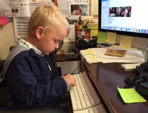 Check out our director for the day!
