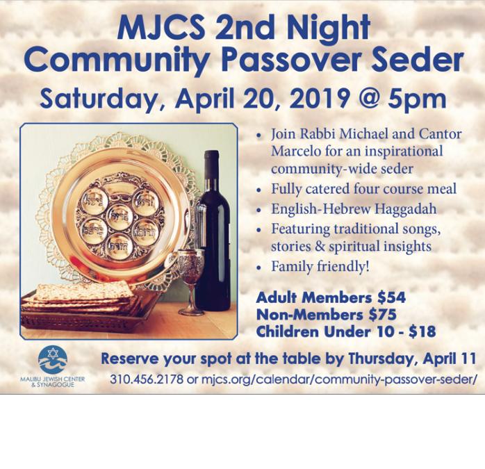 Community Passover Seder - MJCS